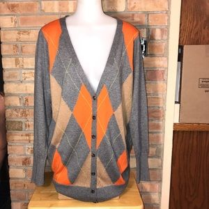 NEW JCP CASHMERE BLEND CARDIGAN SWEATER PLUS 1X